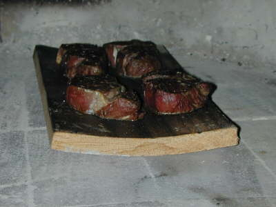 Oak planked Argentinean Filet Mignon